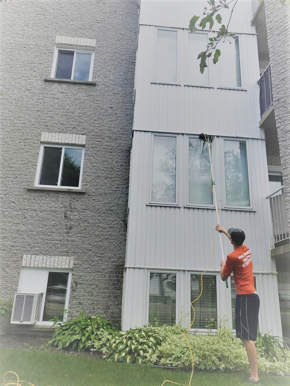 lavage de vitres hauteur